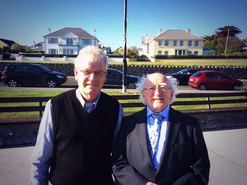Gerry Kenny with President Michael D. Higgins