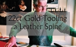 VIDEO - 22ct Gold Tooling a Leather Spine