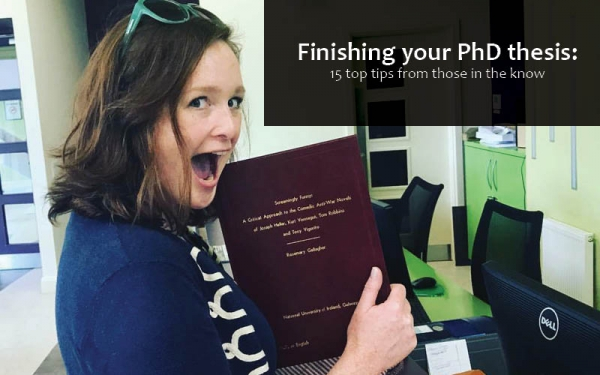 Rosemary Gallagher Pictured Submitting her Ph.D. to NUI Galway